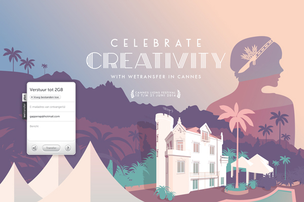 Wetransfer Celebrate Creativity Cannes 2014